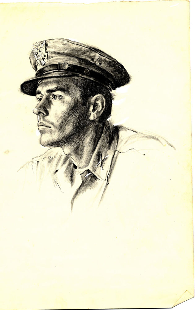 Stanley Staiger sketched by William A. Smith in 1945